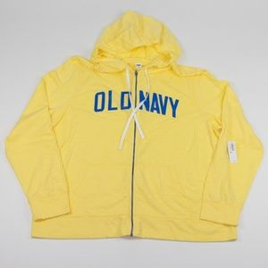 Old Navy Yellow Zip Hoodie